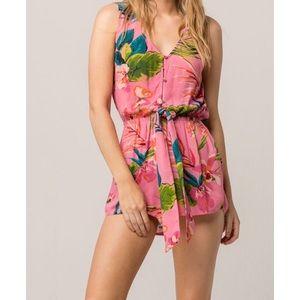 NWT Billabong Summer Solstice Pink Romper